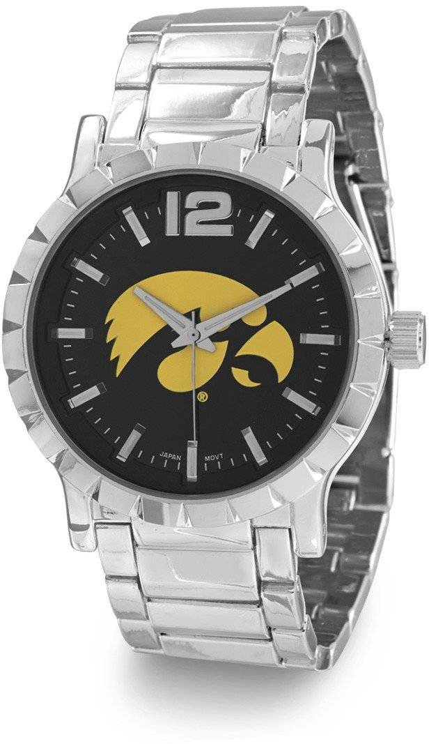 Collegiate Licensed University of Iowa Mens Fashion Watch