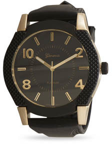 Black Silicone Men's Fashion Watch