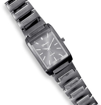 Men's Gunmetal Fashion Watch with Clear Crystal Accent - DISCONTINUED