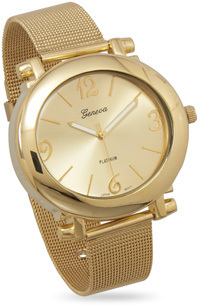 Gold Tone Mesh Fashion Watch - DISCONTINUED