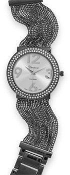 Gunmetal Tone Multistrand Fashion Watch