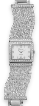 Silver Tone Multistrand Fashion Watch