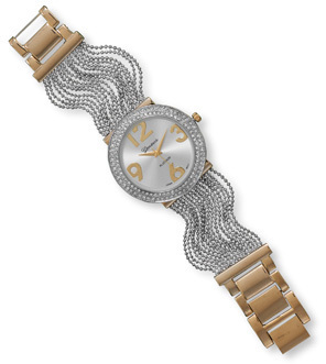 Two Tone Multistrand Fashion Watch
