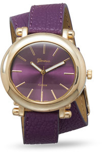 Purple Leather Fashion Wrap Watch - DISCONTINUED