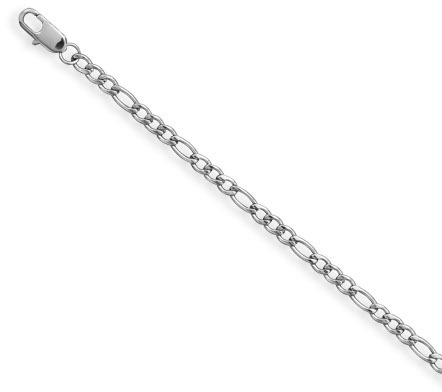"18"" Stainless Steel 120 Figaro Chain Necklace (4mm / 1/6"")"