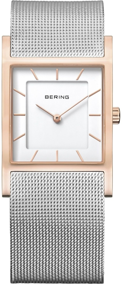 Bering Time - Classic - Ladies Two Tone Rose Gold and Silver Milanese Mesh Watch (Womens) 10426-066