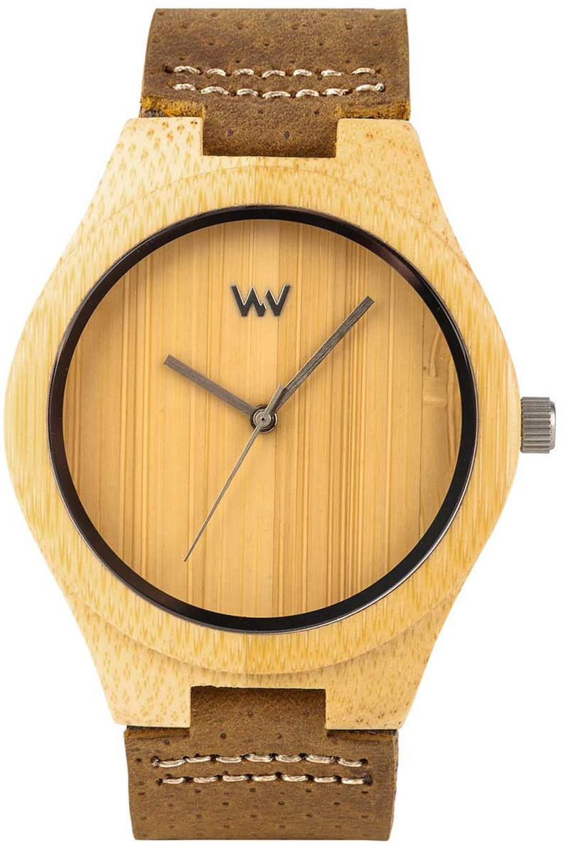 WeWood Wooden Watch - Dellium Bamboo w/ Leather Strap (WDELUMB)