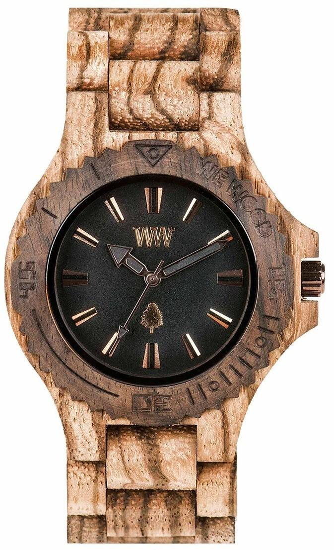 WeWood Wooden Watch - Date Rough Zebrano (WDRZB)