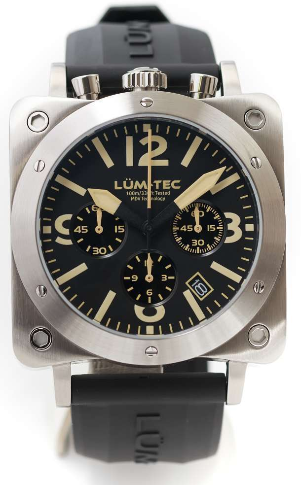 Lum-Tec Watch - Bull42 - A18 Mens Stainless Steel