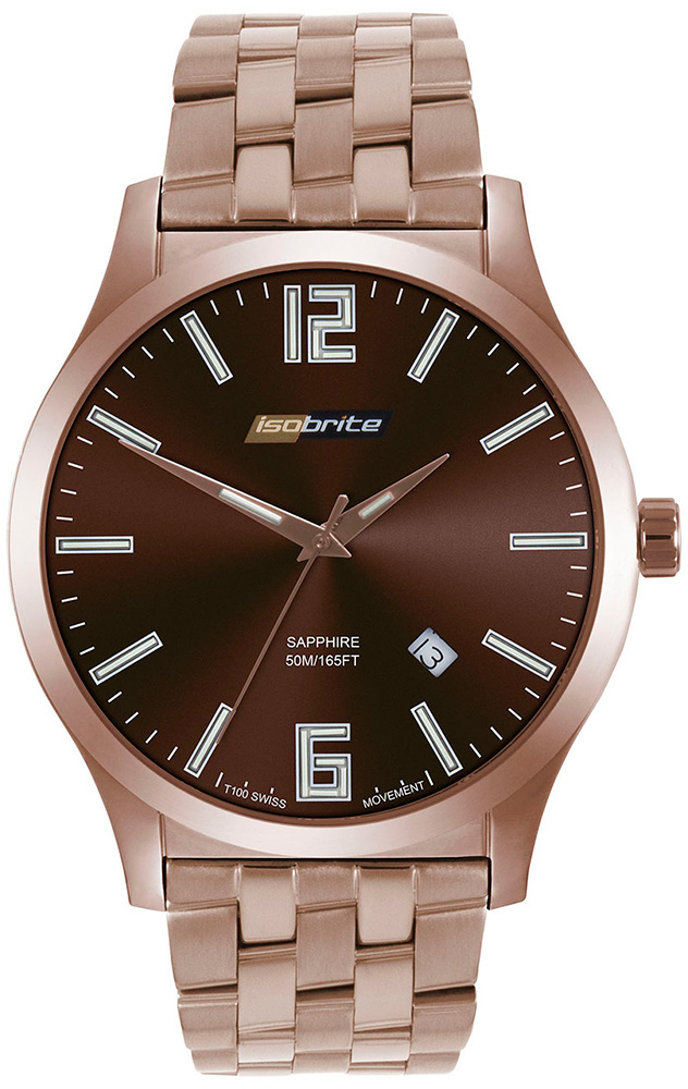 ArmourLite Watch - Isobrite Grand Slimline Series ISO914 - Brown Stainless Steel