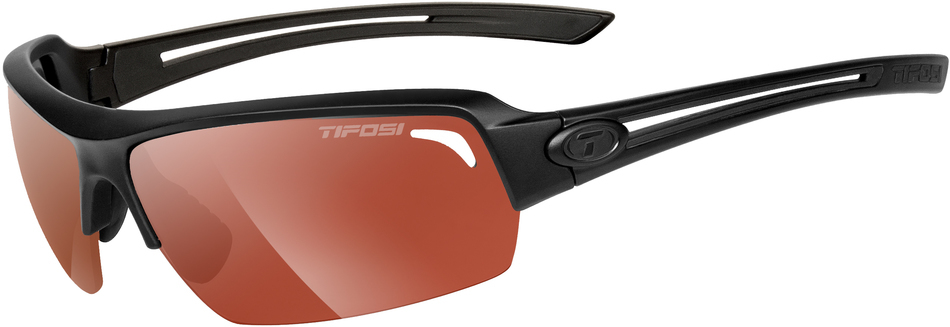 Tifosi Sunglasses - Just Matte Black w/ Smoke Red Lens - DISCONTINUED