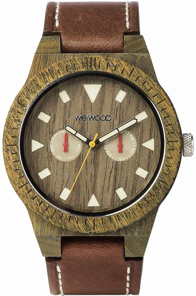 WeWood Wooden Watch - Leo Leather Army US (WLLAUS)