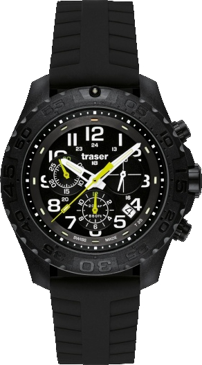 Traser Tritium Watch - Sport Collection - Outdoor Pioneer Chronograph w/ Silicone Strap - 105199