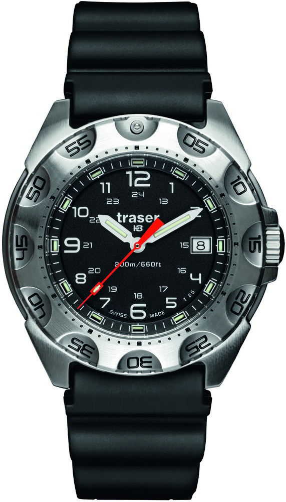 Traser Tritium Watch - Tactical Collection - Survivor w/ Rubber Strap - 105471