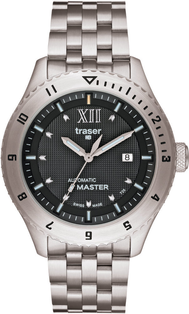 Traser Tritium Watch - Classic Collection - Automatic Master w/ Stainless Steel Bracelet - 100222