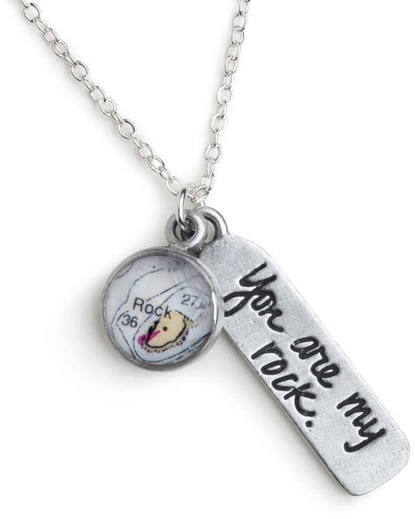 "18"" Pewter Rock Isle Message Necklace (Rock Isle + You are my rock) by Chart Metalworks"