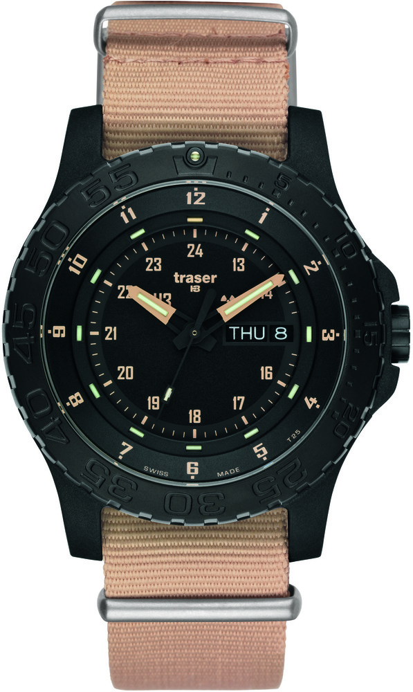 Traser Tritium Watch - Tactical Collection - P6600 Sand w/ Sand Nylon Strap - 100228