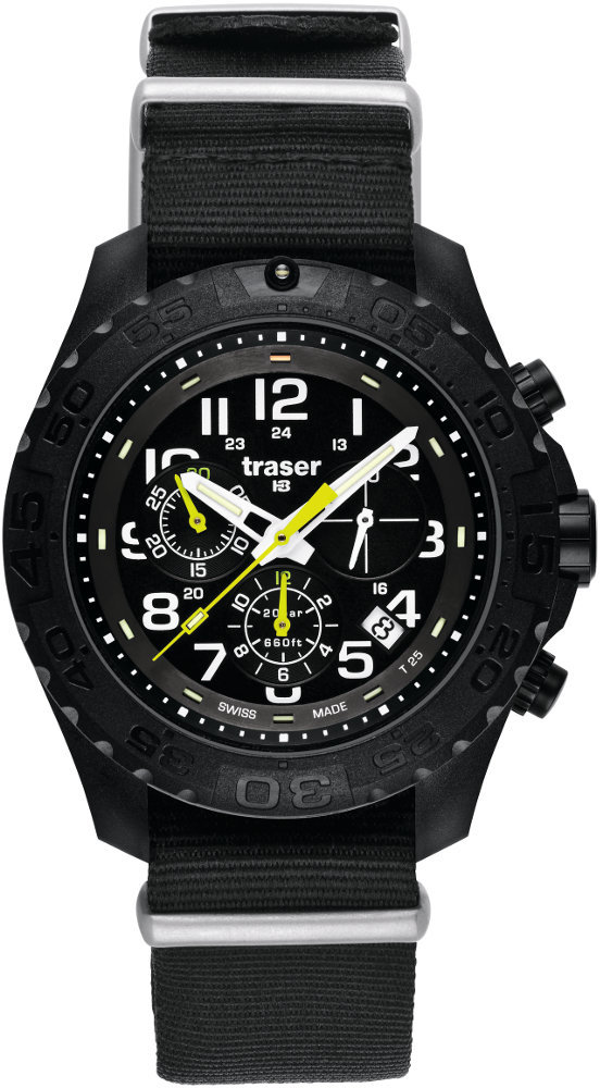 Traser Tritium Watch - Sport Collection - Outdoor Pioneer Chronograph w/ Nylon Strap - 102908