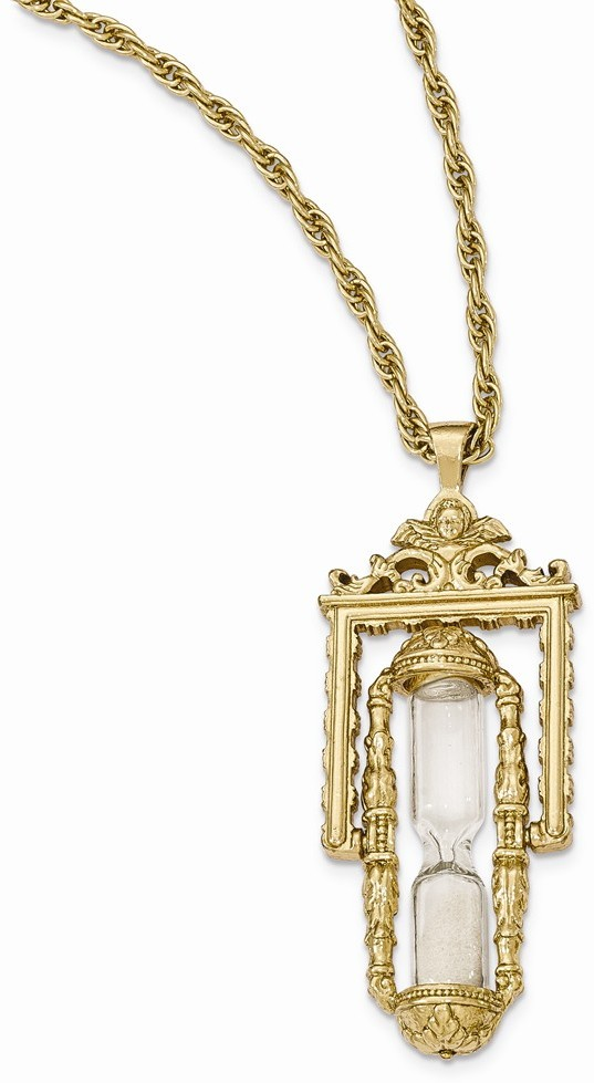 cb19f08c738d4 1928%20Jewelry%20-%20Gold-tone%20Glass%20%26amp%3B%20Sand%20Workable%20Hourglass%20Pendant%20Necklace