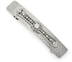 1928 Jewelry - Pretty Silver-tone Crystal Hair Barrette