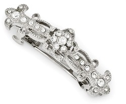 1928 Jewelry - Silver-tone Bridal Crystal Hair Clip