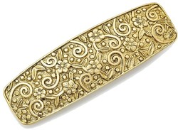 1928 Jewelry - Gold-tone Flower & Swirl Hair Barrette
