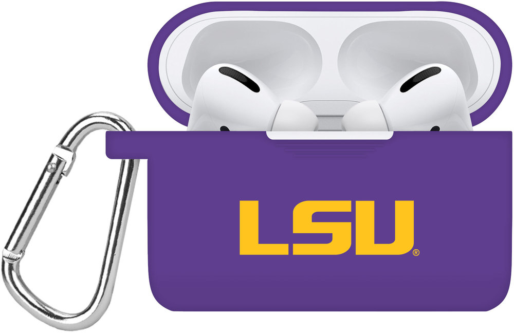 LSU Tigers Silicone Silicone Case Cover Compatible with Apple AirPods PRO Battery Case - Purple