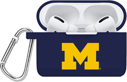 Michigan Wolverines Silicone Case Cover Compatible with Apple AirPods PRO Battery Case - Navy Blue