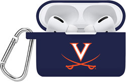 Virginia Cavaliers Silicone Case Cover Compatible with Apple AirPods PRO Battery Case - Navy Blue