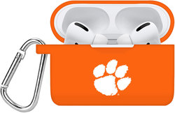 Clemson Tigers Silicone Case Cover Compatible with Apple AirPods PRO Battery Case - Orange