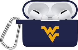 West Virginia Mountaineers Silicone Case Cover Compatible with Apple AirPods PRO Battery Case - Navy Blue