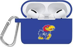 Kansas Jayhawks Silicone Case Cover Compatible with Apple AirPods PRO Battery Case - Royal Blue
