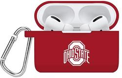 Ohio State Buckeyes Silicone Case Cover Compatible with Apple AirPods PRO Battery Case - Crimson Red