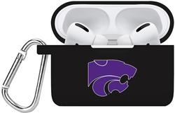Kansas State Wildcats Silicone Case Cover Compatible with Apple AirPods PRO Battery Case - Black