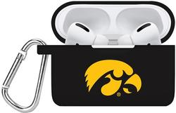 Iowa Hawkeyes Silicone Case Cover Compatible with Apple AirPods PRO Battery Case - Black