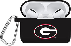 Georgia Bulldogs Silicone Case Cover Compatible with Apple AirPods PRO Battery Case - Black