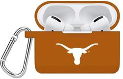 Texas Longhorns Silicone Case Cover Compatible with Apple AirPods PRO Battery Case - Burnt Orange
