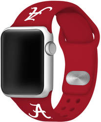 Alabama Crimson Tide Silicone Watch Band Compatible with Apple Watch - 42mm/44mm Crimson Red