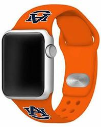 Auburn Tigers Silicone Watch Band Compatible with Apple Watch - 38mm/40mm Orange
