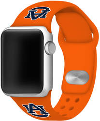 Auburn Tigers Silicone Watch Band Compatible with Apple Watch - 42mm/44mm Orange