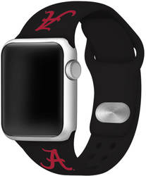 Alabama Crimson Tide Silicone Watch Band Compatible with Apple Watch - 38mm/40mm Black