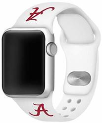 Alabama Crimson Tide Silicone Watch Band Compatible with Apple Watch - 42mm/44mm White