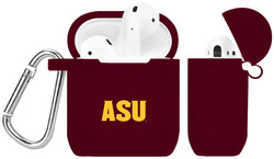 Arizona State Sun Devils Silicone Case Cover Compatible with Apple AirPods Battery Case - Maroon