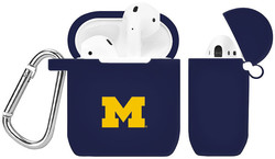 Michigan Wolverines Silicone Case Cover Compatible with Apple AirPods Battery Case - Navy Blue