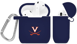 Virginia Cavaliers Silicone Case Cover Compatible with Apple AirPods Battery Case - Navy Blue
