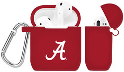 Alabama Crimson Tide Silicone Case Cover Compatible with Apple AirPods Battery Case - Crimson Red