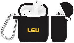 LSU Tigers Silicone Case Cover Compatible with Apple AirPods Battery Case - Black