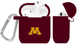 Minnesota Golden Gophers Silicone Case Cover Compatible with Apple AirPods Battery Case - Maroon