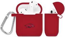 Arkansas Razorbacks Silicone Case Cover Compatible with Apple AirPods Battery Case - Crimson Red