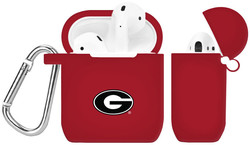 Georgia Bulldogs Silicone Case Cover Compatible with Apple AirPods Battery Case - Crimson Red